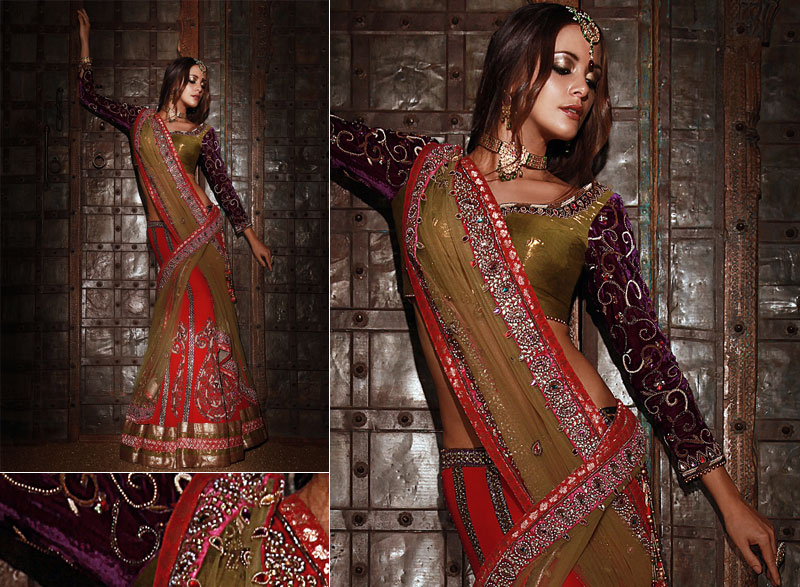 Indian Bridal Traditional Wear Fusion Wedding Dress